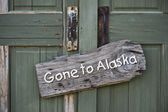 Gone to Alaska. — Stock Photo