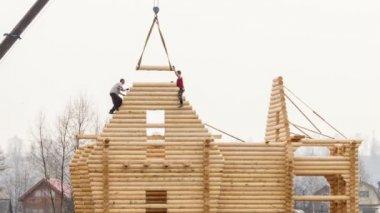 Construcción de viviendas — Vídeo de stock