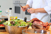 Chef cook preparing for cooking — Stock Photo