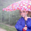 Girl with umbrella — Stock Photo