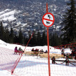 Stock Photo: Prohibition sign on slope