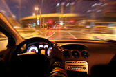 Fast night driving — Stock Photo
