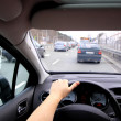 Driving in traffic jam — Stock Photo #24178867