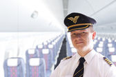 Pilot in plane — Stock Photo