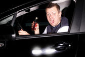 Drunk driver causes an accident — Stock Photo