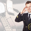 Airliner pilot in uniform — Stock Photo #30940781