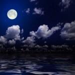 Night sky with moon — Stock Photo
