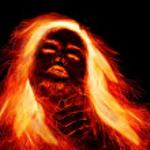 Girl with fiery hair — Stock Photo