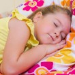 Girl sleeping at home — Stock Photo #14999841