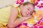 Girl sleeping at home — Stock Photo