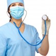 Young doctor with stethoscope — Stock Photo