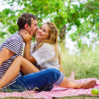 Young couple on picnic — Stock Photo