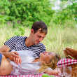 Young couple on picnic — Stock Photo #29238275