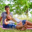 Young couple on picnic — Stock Photo #30267247