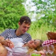 Young couple on picnic — Stock Photo #30267313