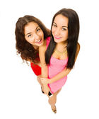 Two funny young girls — ストック写真