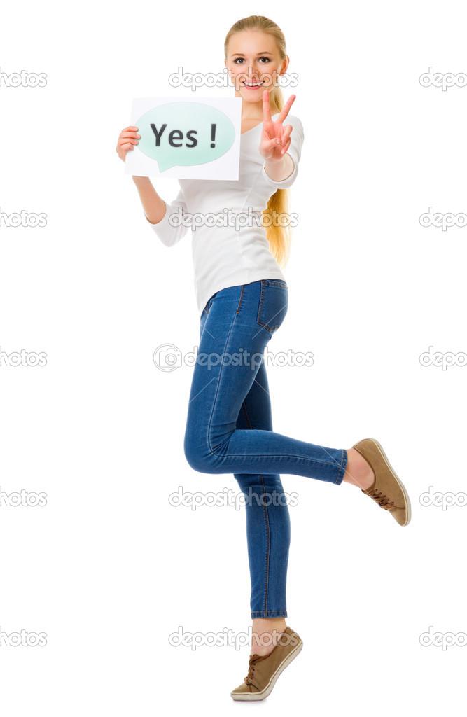 скачать плакат девушка в джинсах