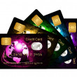 Fan of credit cards over white background — Stock Photo #23541279