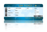 Airline boarding pass ticket isolated over white — Stock Photo