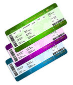 Boarding pass tickets isolated over white — Stock Photo