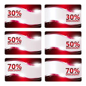 Set of discount cards isolated over white — Stock Photo