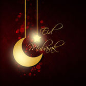 Abstract background with eid mubarak greeting — Stock Photo