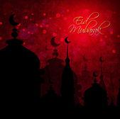 Abstract background for eid mubarak festival — Stock Photo