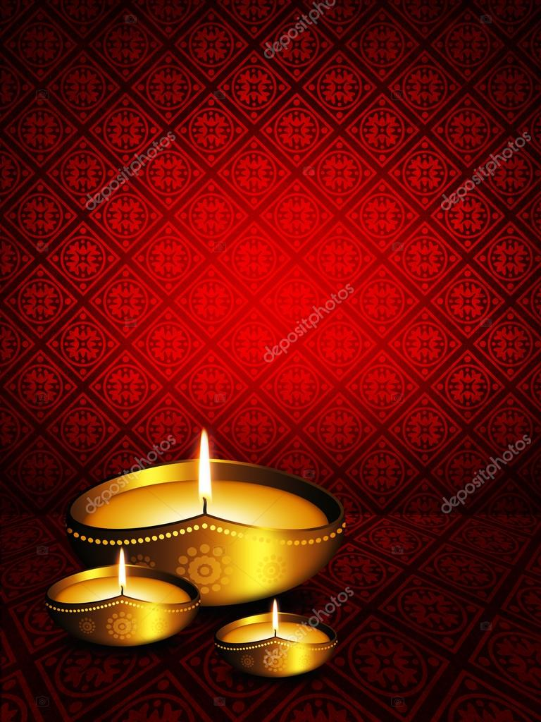 Oil Lamp Background Oil Lamp With Diwali Greetings