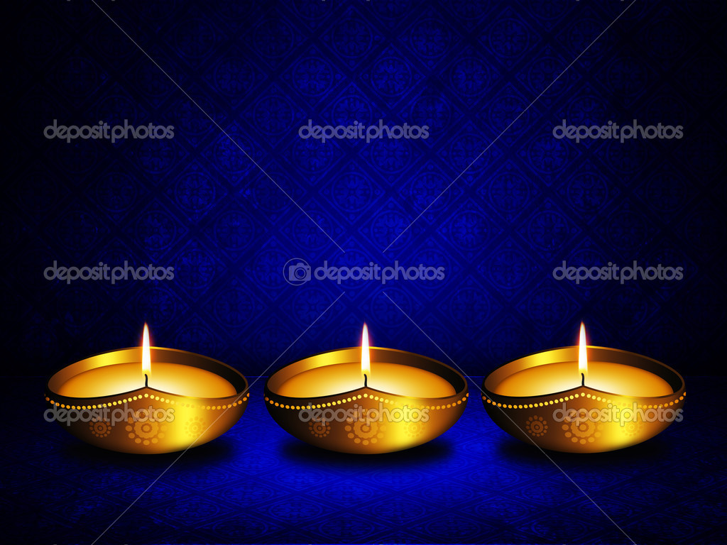 Oil Lamp Background Oil Lamp With Place For Diwali