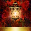 Ramadan kareem background with shiny lantern — Stock Photo