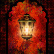 Ramadan kareem background with shiny lantern — Stok fotoğraf