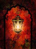 Ramadan kareem background with shiny lantern — Stock Photo