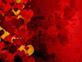 Grunge valentines background with hearts — Stock Photo