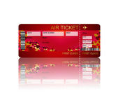 Valentine fly ticket with shadow isolated over white — Stock Photo