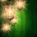 Ramadan kareem background with shiny lanterns — Stock Photo #44795783