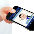 Hand holding mobile phone with medical center website — Stock Photo #49166891