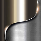 Metal dark background — Stock Photo