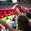 WROCLAW - SEPTEMBER 11: Polish supporters at Stadion Miejski in Wroclaw — Stock Photo