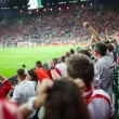 WROCLAW - SEPTEMBER 11: Polish supporters at Stadion Miejski — Stock Photo