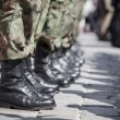 Army parade - boots close-up — Stock Photo #12841240