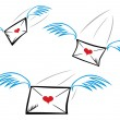 Love letters — Stock Vector