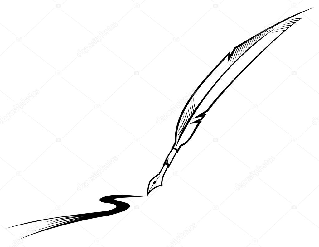 Feather Writing Stockvector Oxygen64 12136879