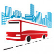 Stock Vector: City bus
