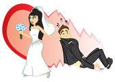 Wedding ceremony — Stock Vector