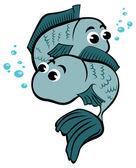 ребенок рыбы — Cтоковый вектор