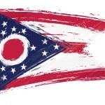 Grunge Ohio flag — Stock Vector