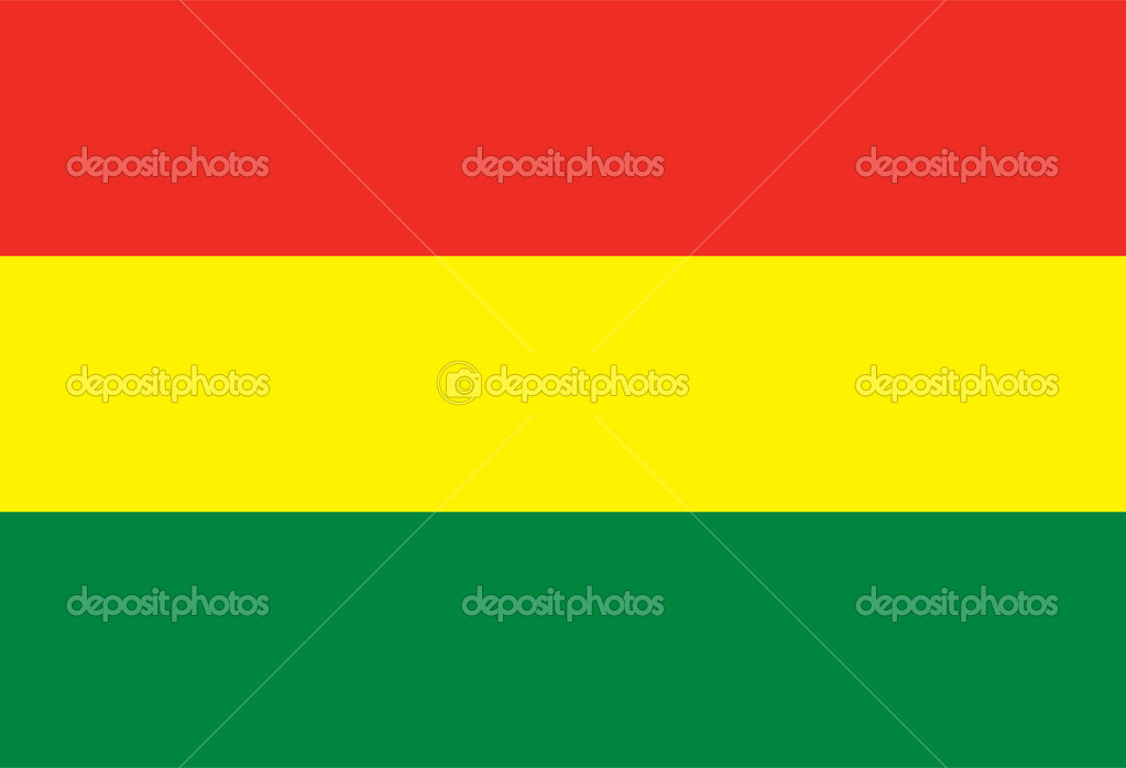Vector Plurinational State of Bolivia flag — Stock Vector #13784603