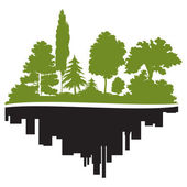 City and forest — Stock Vector
