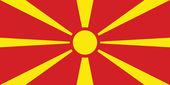Vlag van macedonië — Stockvector
