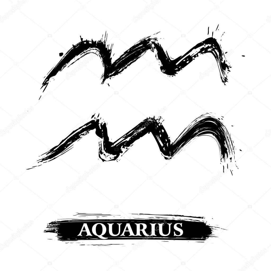 Znak Zodiaku Wodnik Symbol Znak Zodiaku Wodnik Tworzone w